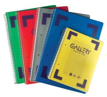 Gallery Traditional spiraalschrift ft A5, geruit 5 mm, geassorteerde kleuren, 160 bladzijden