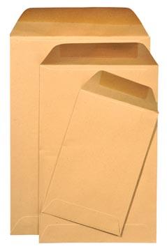Gallery loonzakjes ft 114 x 162 mm, gegomd, bruine kraft, doos van 1000 stuks