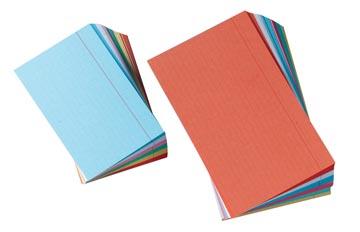 Gallery gekleurde systeemkaarten, ft 7,5 x 12,5 cm, gelijnd, pak van 120 stuks