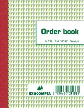Exacompta orderbook, ft 13,5 x 10,5 cm, tripli (50 x 3 vel)