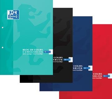Oxford SCHOOL cursusblok, geassorteerde kleuren, ft A4, 100 vel, commercieel geruit