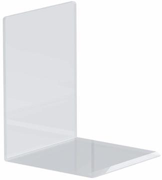 Maul boekensteun ft 10 x 10 x 13 cm, transparant, pak van 2 stuks