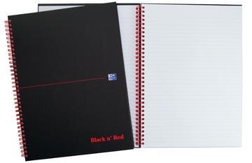 Oxford BLACK N' RED spiraalblok karton, 140 bladzijden ft A5, gelijnd
