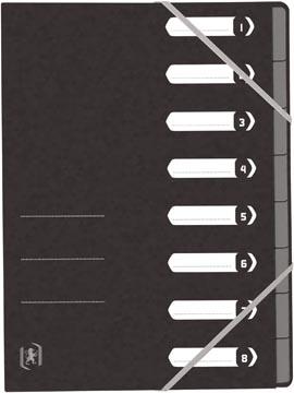 Elba Oxford Top File+ sorteermap, 8 vakken, met elastosluiting, zwart