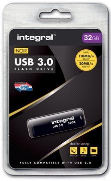 Integral USB stick 3.0, 32 GB, zwart