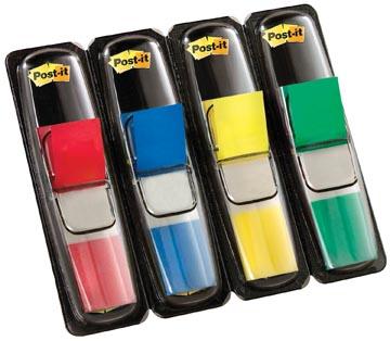 Post-it Notes Smal, 4 x 35 tabs, rood, blauw, geel en groen