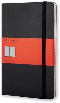 Moleskine adresboek, ft 13 x 21 cm, gelijnd, harde cover, 240 bladzijden, zwart