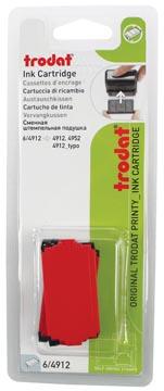 Trodat vervangkussen rood, voor stempel 4912, blister met 2 stuks