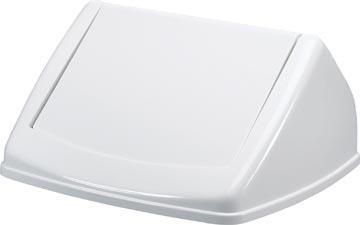 Durable deksel Durabin Fliplid 40 liter, wit