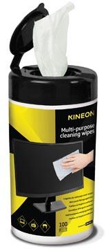 Kineon multifunctionele reinigingsdoekjes, doseerbus van 100 doekjes