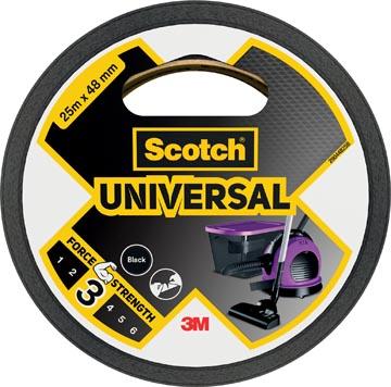 Scotch ducttape Universal, ft 48 mm x 25 m, zwart