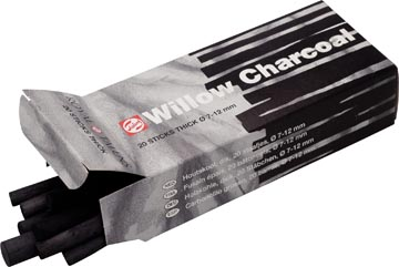 Talens houtskool 7 - 12 mm, doosje met 20 staafjes