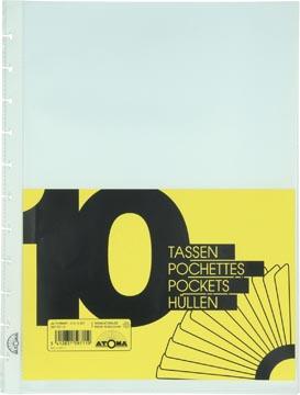 Atoma Toebehoren voor schriften set van 10 transparante showtassen