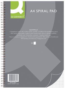 Q-Connect collegeblok, ft A4, geruit 5 mm, 80 vel