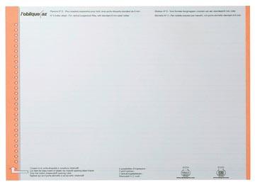 Elba etiketten voor hangmappen voor laden oranje, 1 vel met 27 etiketten