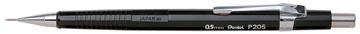 Pentel vulpotlood voor potloodstiften: 0,5 mm, zwarte houder