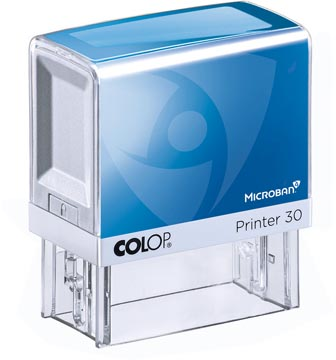 Colop printer 30 Microban, max. 5 regels, ft 47 x 18 mm, met de Microban antibacteriële technologie