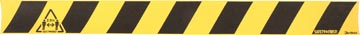 Tarifold vloersticker, houd 2 meter afstand (ook voor ruwe vloer), ft 80 x 8 cm, geel/zwart