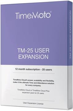 Safescan TimeMoto Cloud User Expansion pakket, 25 gebruikers